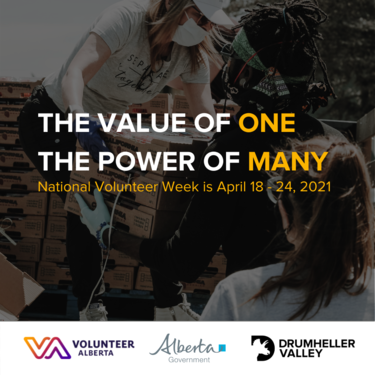National Volunteer Week is April 18 - 24, 2021